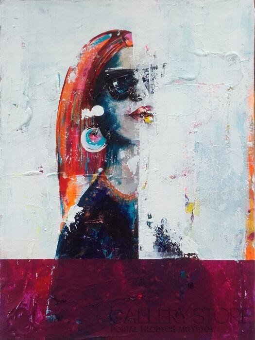 Olga  Hausmann-Kobieta w naszyjniku-Akryl