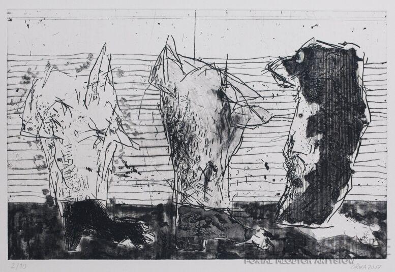 """Orwa Abu Turabe-z cyklu """" pies """" -Grafika"""