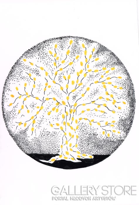 """Paulina Klimas-""""Magiczne drzewo""""-Grafika"""