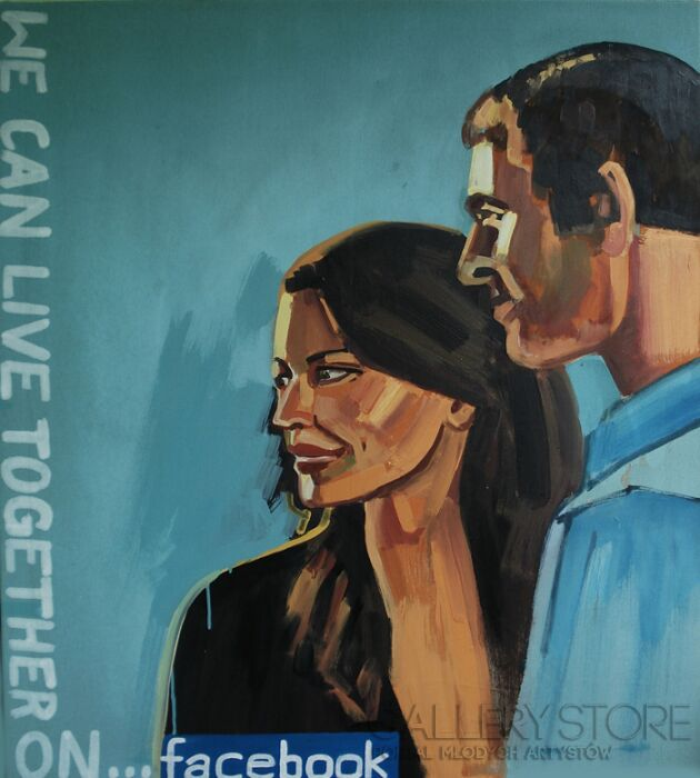 Piotr Kachny-Modern Romance-Malarstwo