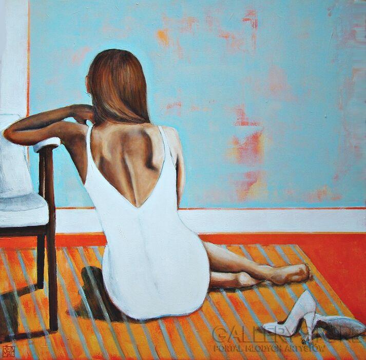 Renata Magda-The women in the window. ...-Akryl