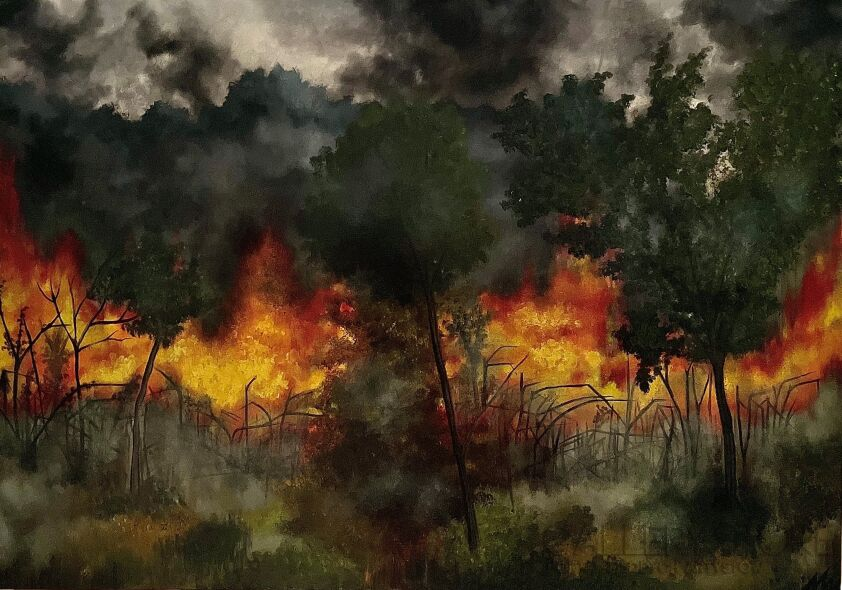 Monika Wojtyła-MODERN VISION OF WAR-Olej