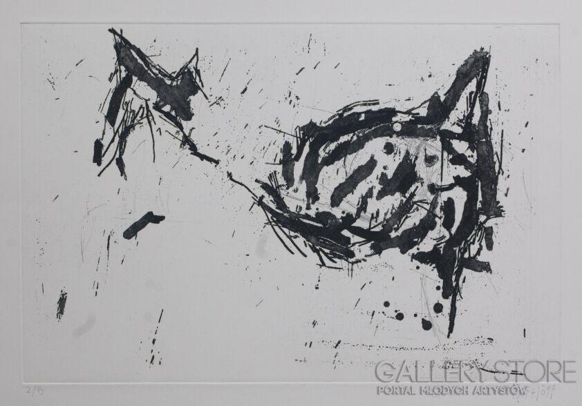 """Orwa Abu Turabe-z cyklu """" pies """"  p30-Grafika"""
