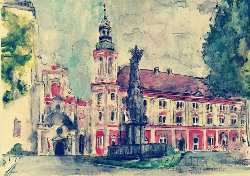 Sylwia Dubikowska-Klasztor Cystersów-Akwarela
