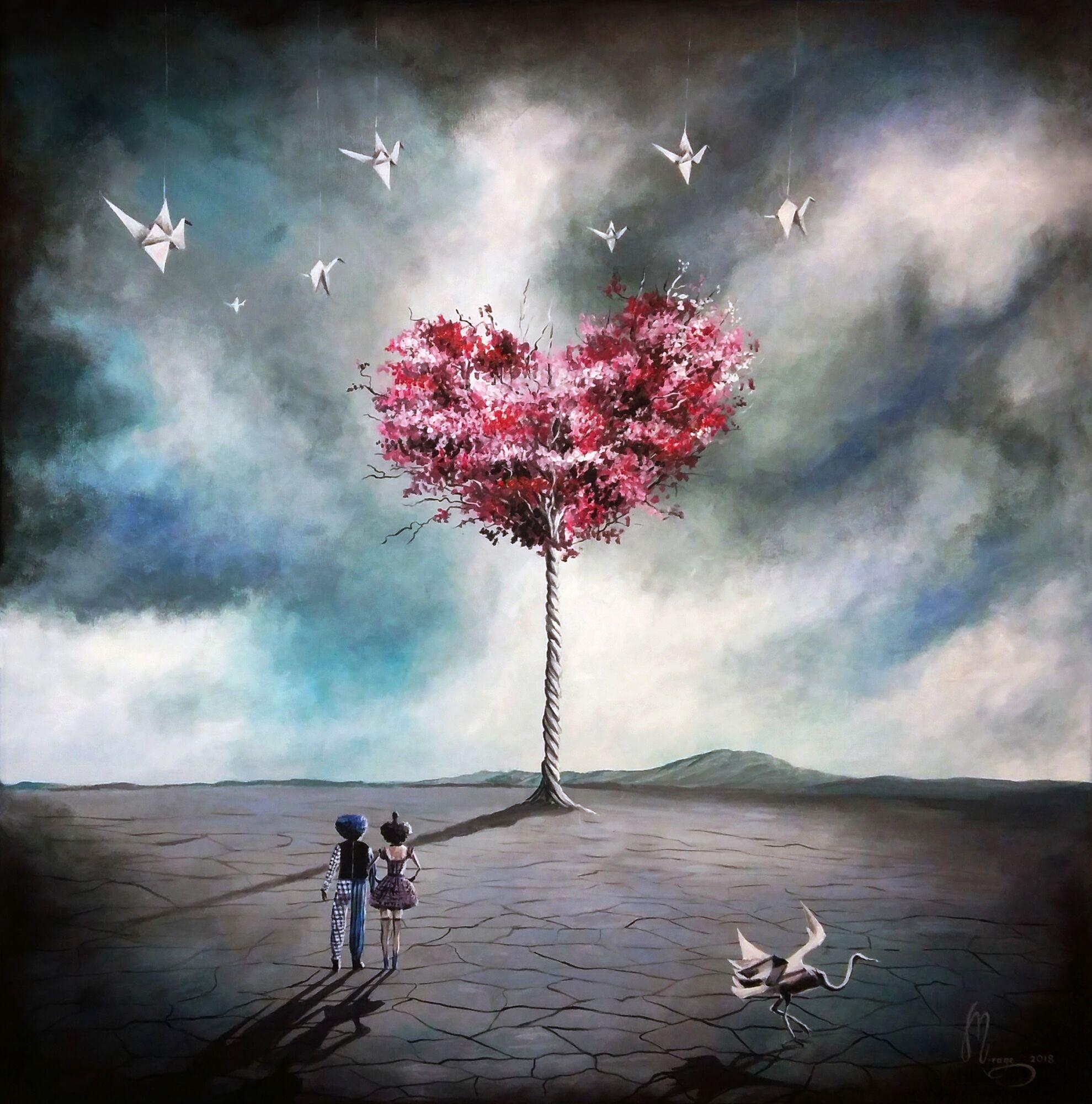 Открытки своими, картинки сюрреализм любовь